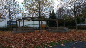 Überdachung der Sitzecke im Generationenpark
